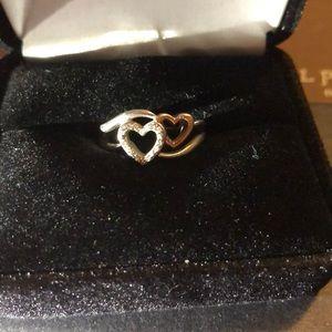 Kay jeweler Double heart promise ring